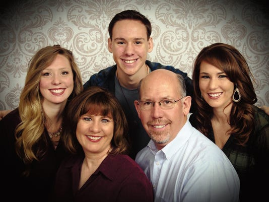 Eddie Bradshaw, second from right, will be taking over as the new pastor at the Carlsbad Church of God of Prophecy. He is shown with his family.
