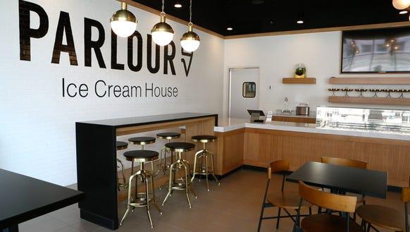 Interior shot of the Parlour Ice Cream House on Monday,