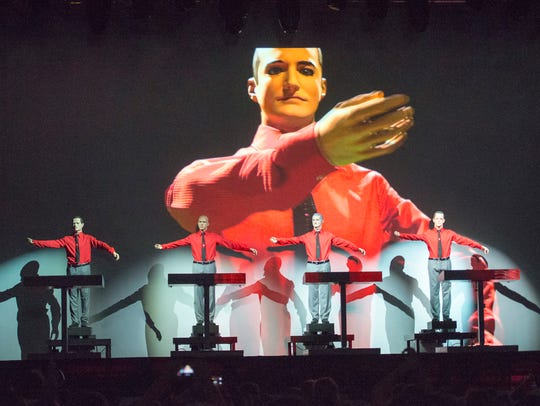 Kraftwerk performs on the main stage during the Movement