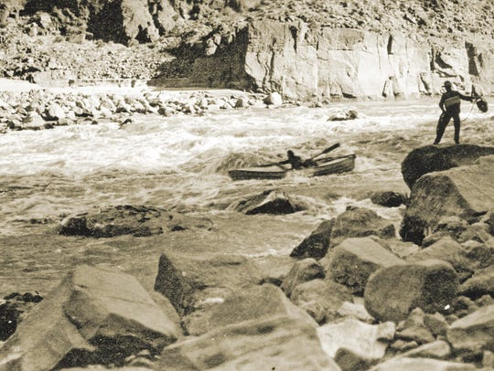At especially perilous rapids, one brother would often