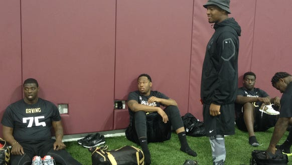 Jameis Winston arrives at FSU's Pro Day