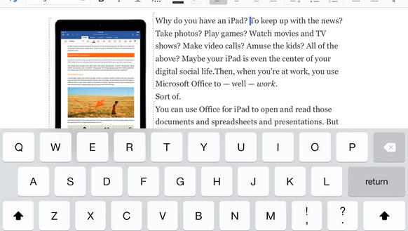 Screenshot of Microsoft Word app