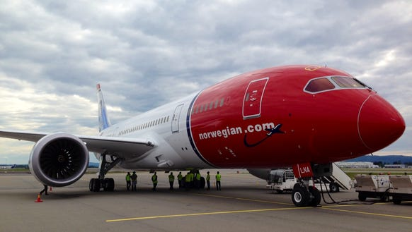 This undated file photo shows a Norwegian Air 787 Boeing