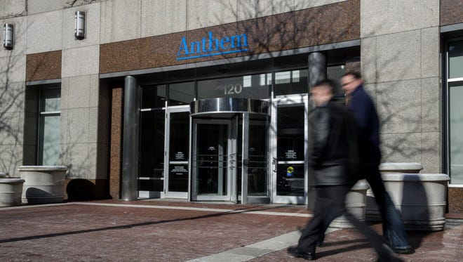 An exterior view of the Anthem health insurance headquarters on Feb. 5, 2015 in Indianapolis. About 80 million company records were accessed in what may be among the largest health care data breaches to date.