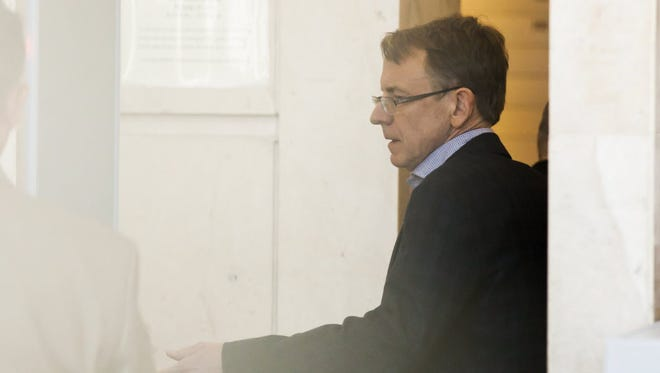 John Doerr, a senior partner at Kleiner Perkins Caufield and Byers, enters the San Francisco Civic Center Courthouse in San Francisco, CA on Tuesday, March 3, 2015. Doerr testified at the trial brought by former colleague Ellen Pao.