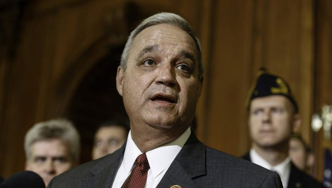 House Veterans' Affairs Committee Chairman Jeff Miller, R-Fla., speaks on Capitol Hill in Washington on May 29, 2014.