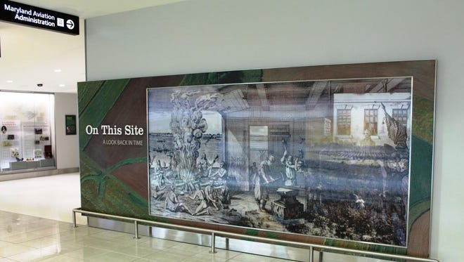 """The """"On this Site"""" exhibit is in a section of the terminal that dates back to 1950."""