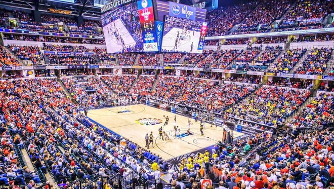 Bankers Life Fieldhouse hosts the Big Ten Tournament Friday, March 11, 2016.