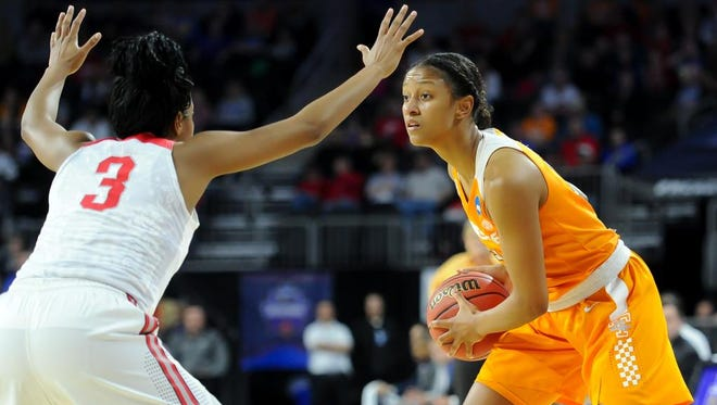Tennessee's Jaime Nared (31) averaged 8.3 points and 4.8 rebounds per game last season.