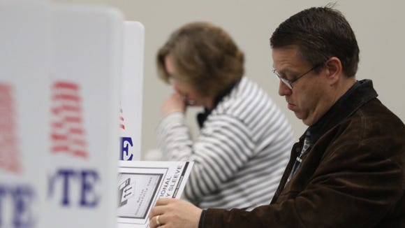 Victor residents cast ballots in Tuesday's school budget voting.
