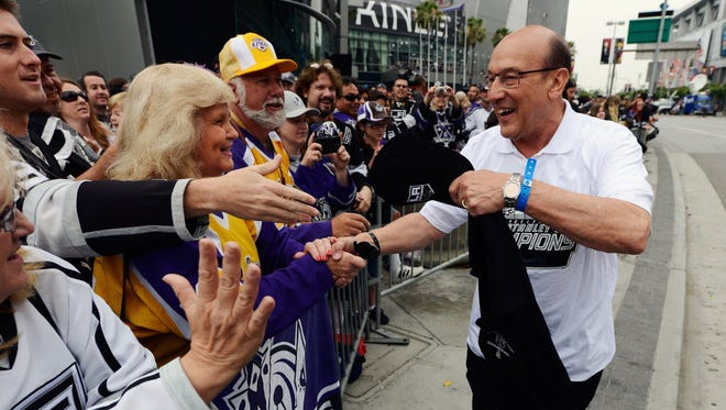 Los Angeles Kings announcer Bob Miller has been hospitalized after suffering a mild stroke.
