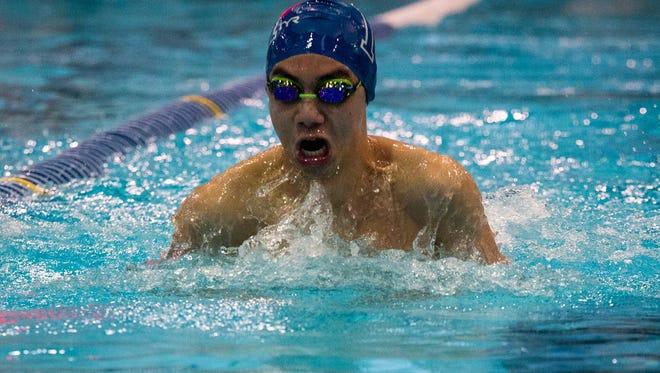 Millburn swimmer Eric Wang