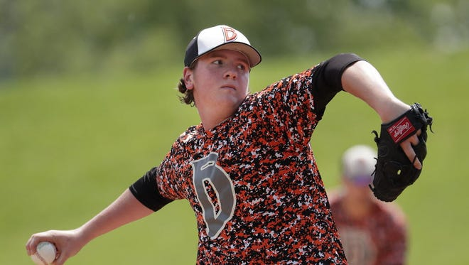 Jacob Lindemann has played a big role in Burlington's 10-game winning streak entering Monday. Lindemann has been forced to play in the field this season as he recovers from Tommy John surgery.