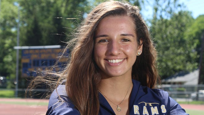 After leading her team to a Bergen County title, division title and sectional title, Ramsey's Victoria Sebastian is The Record Softball Player of the Year.