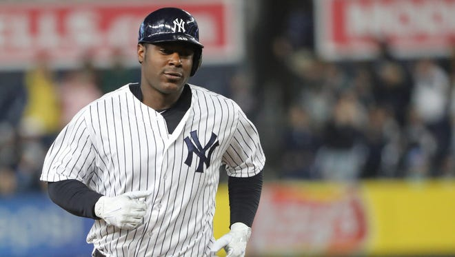 Chris Carter was designated for assignment by the Yankees early Saturday. The first baseman was batting just .204 in 57 games.