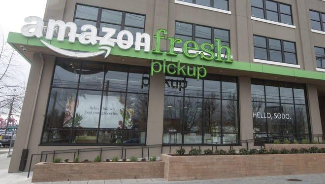 An AmazonFresh Pickup storefront in Seattle.