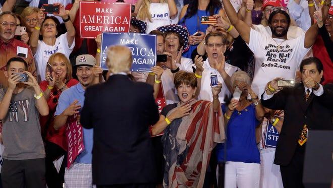 President Trump in Phoenix on Aug. 22, 2017.