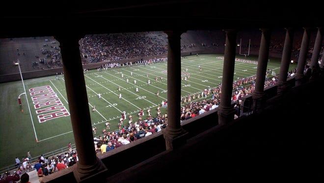 Harvard Stadium during a 2007 game.