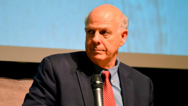 U.S. Rep. Steve Pearce, R-NM, speaks at tax reform forum at the National Hispanic Cultural Center Saturday, April 14, 2018 in Albuquerque. Republicans are pinning their hopes for keeping hold of the governor's office in New Mexico on the mild-mannered Pearce who helped Donald Trump win his congressional district along the U.S. border with Mexico in 2016.