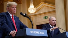 President Donald Trump with Russian President Vladimir