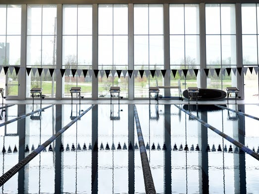 The large pool at the new YMCA that will open March