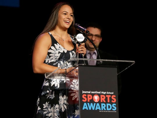 Girls athlete of the year, Lexi Romero, of Brookfield