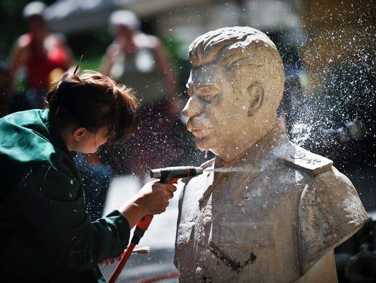 AFP TOPSHOTS-BULGARIA-COMMUNISM-FEATURE E ART BGR -
