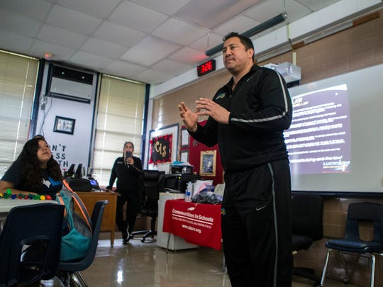 Lucid Love Director Sal Montelongo speaks to students