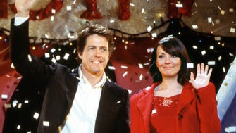 Hugh Grant and Martine McCutcheon in a scene from the motion picture Love Actually. --- DATE TAKEN: rec'd 08/03  By Peter Mountain   Universal Studios        HO      - handout ORG XMIT: ZX3923