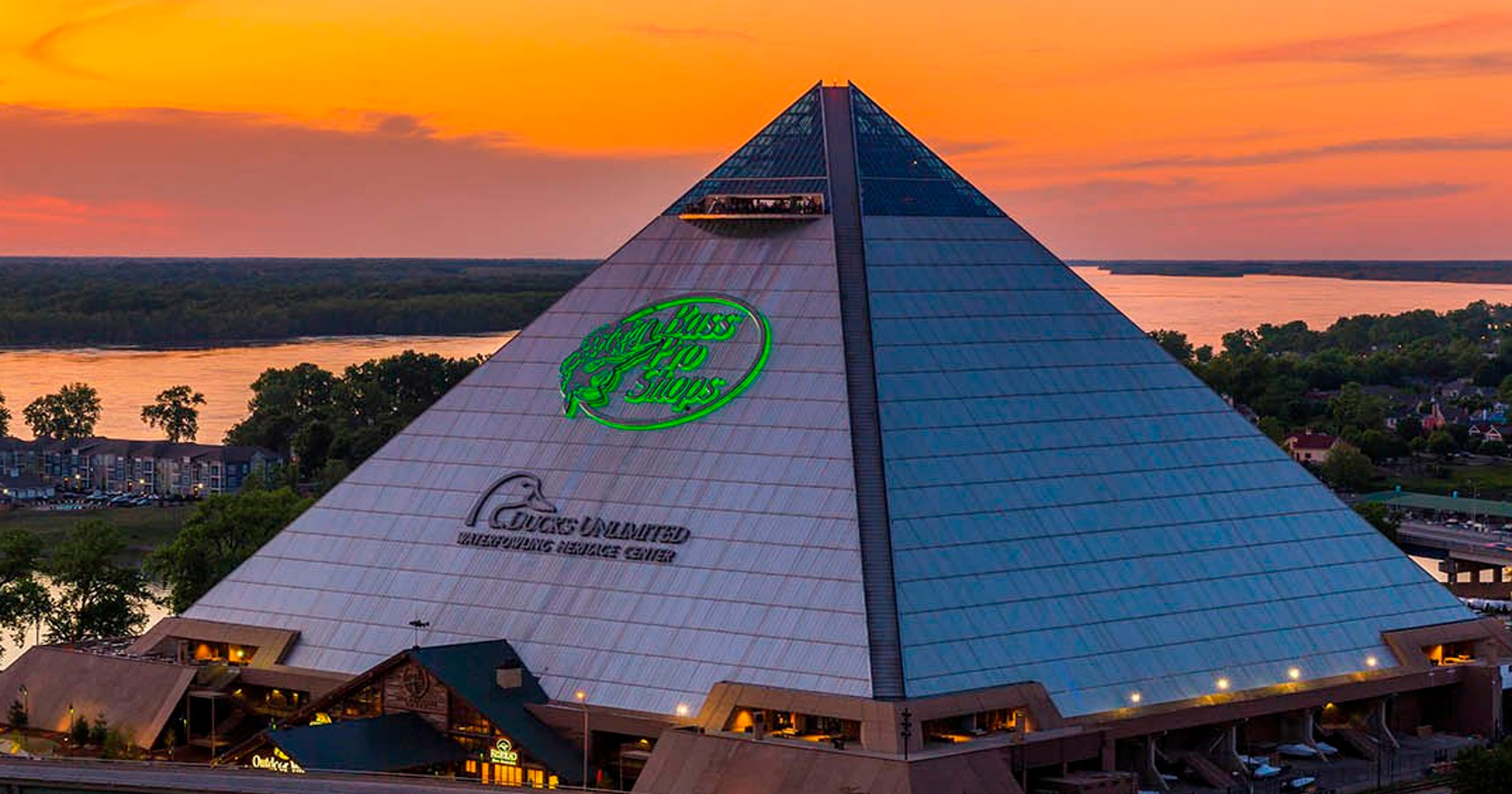 memphis pyramid brings bass pro shops new lodging to booming city