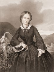 Engraving of English author Charlotte Bronte, author