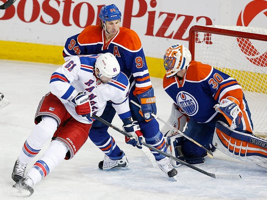 Rangers Oilers March 2014