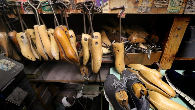 Shoe stays of different sizes and styles used in shoe reair at John's Shoe Service and Tailoring that Sue and her late husband Joseph Pappalardo operated for 33 years.