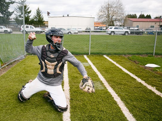 South Salem's Aaron Zavala was a first team all-state catcher last season.