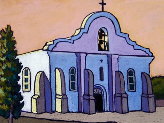 """Colorful San Elizario"" by Candy Mayer."
