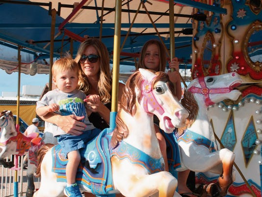 Trey, Raschel and Azlyn Childress enjoyed the amusement rides on Thursday evening at the 76th Otero County Fair and Rodeo. The amusement portion of the fair will be open until Sunday.