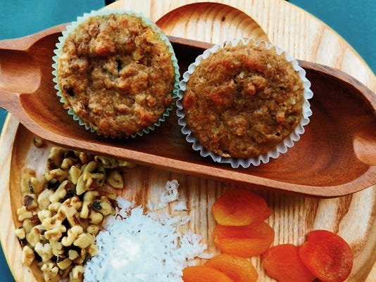 The Happy Baker's fruit and nut anytime muffins.