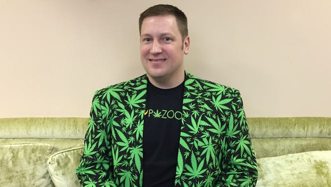 David Cunic, a former cofounder of a large physical therapy practice in Denville, launched Pazoo, an online health and wellness website that is now investing in the growing industry of testing  medical marijuana.