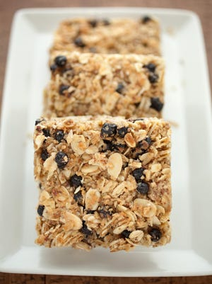 Blueberry and almond granola squares by Rita French of Province.