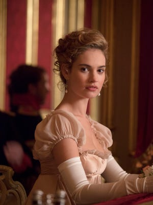 Lily James stars in the 'War and Peace' miniseries airing on three channels.