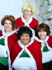 "Clockwise from top: Brittanie Graham, Elizabeth Ayton, Blandina Vergara-Cruz and Caitlin Miles in ""A Taffeta Christmas."""