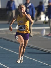 Indianola freshman Grace Gioffredi competes in a 100-meter
