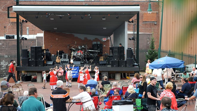 The community is invited to attend a promotional video shoot at 2 p.m. Sunday on the new Brickyard stage in downtown Mansfield.