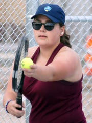 Junior Lady Cat Taylor Benavidez make quick work of her Silver High opponents in a 6-0 and 6-1 singles victory.