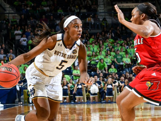 NCAA Womens Basketball: Louisville at Notre Dame