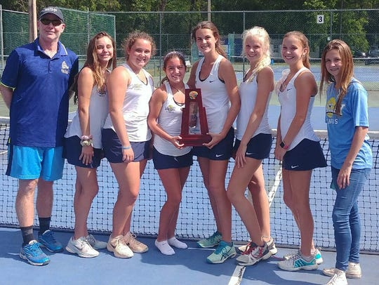Maclay's girls tennis team captured a District 2-1A