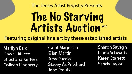 Logo No Starving Artists Auction #2