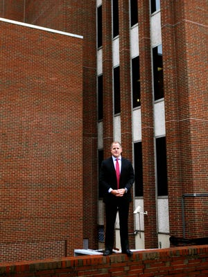 Kenton County Judge-Executive Kris Knochelmann, before he was sworn in, outside the Kenton County Administration Building in December. The Fiscal Court is now undertaking strategic planning to unify its major goals.