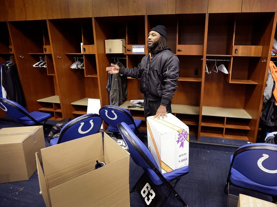 IIndianapolis Colts Malik Hooker packs up the remaining items of his locker following the Colts final game of the season. Indianapolis Colts players spent most of the morning cleaning out their lockers and boxing up their possessions to be mailed to their home Monday, Jan 1, 2018.