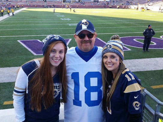 Busch and his daughters drove 10 hours to see the Rams